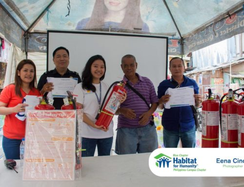 Habitat's Blue Chapter initiates a fire prevention project in Bistekville 4